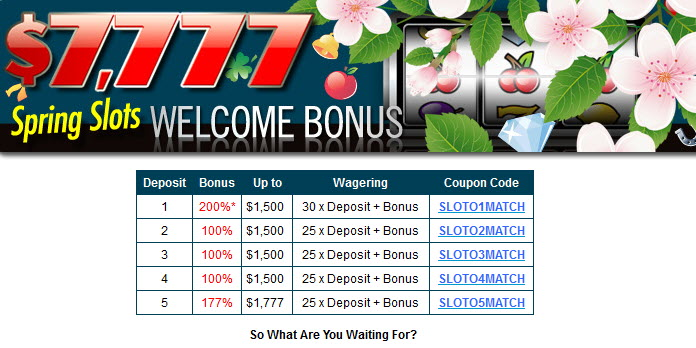 slotocash welcome bonus casino online